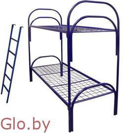 Купить кровати металлические двухъярусные с лестницами