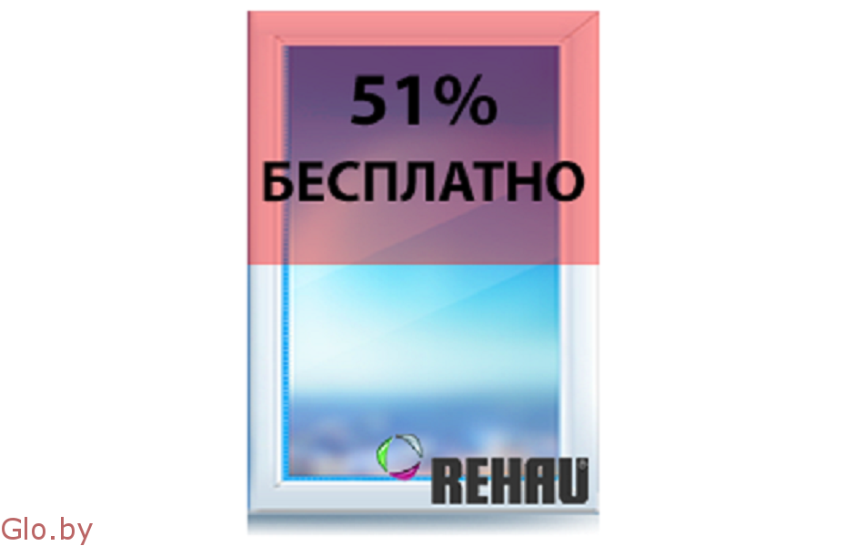 Окна Rehau DeLuxe со скидкой 51%