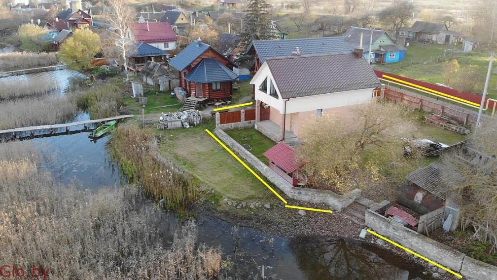Продам дом в г.п.Свирь,1-я Береговая линия, 147 км от Минска.