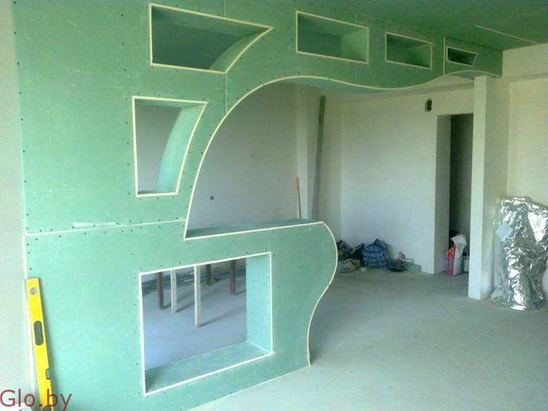 Потолки,стены,перегородки из гипсокартона и другие работы
