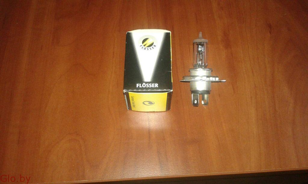Автомобильные галогенные лампы H4 12V 60/55W (P43t) 625543 FLOSSER - 3 шт.