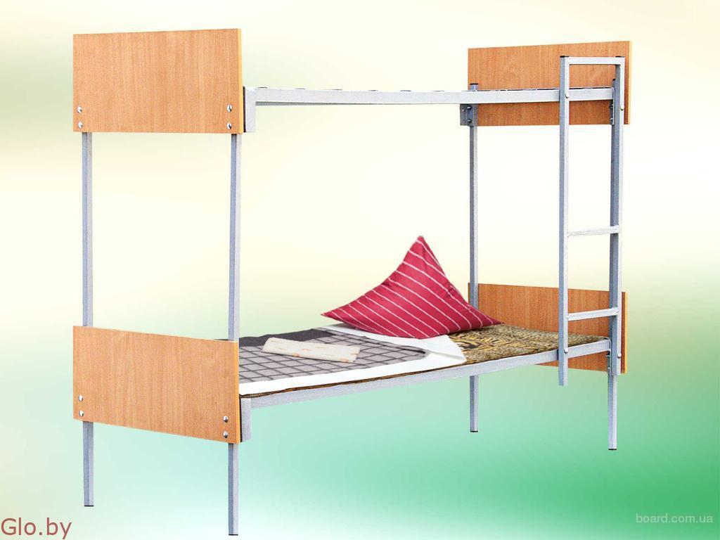 Кровати металлические одноярусные с ДСП спинками
