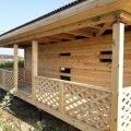 Сруб Дома дачного из бруса 8х8м проект Селява