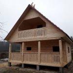 Баня-Дом из профилированного бруса проект Юля 6х4м