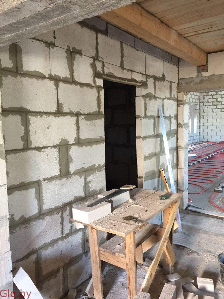 Кладка стен, перегородок (гипсокартон, блоки, кирпич)