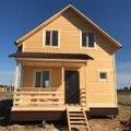 Каркасный дом 7х8м по проекту Нильсия под ключ