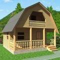 Дом сруб из бруса 6х6 проект Арсений