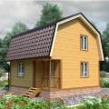 Дом из профилированного бруса 6х6м проект Менск