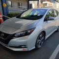 Nissan Leaf SV 2018 серебристый металлик