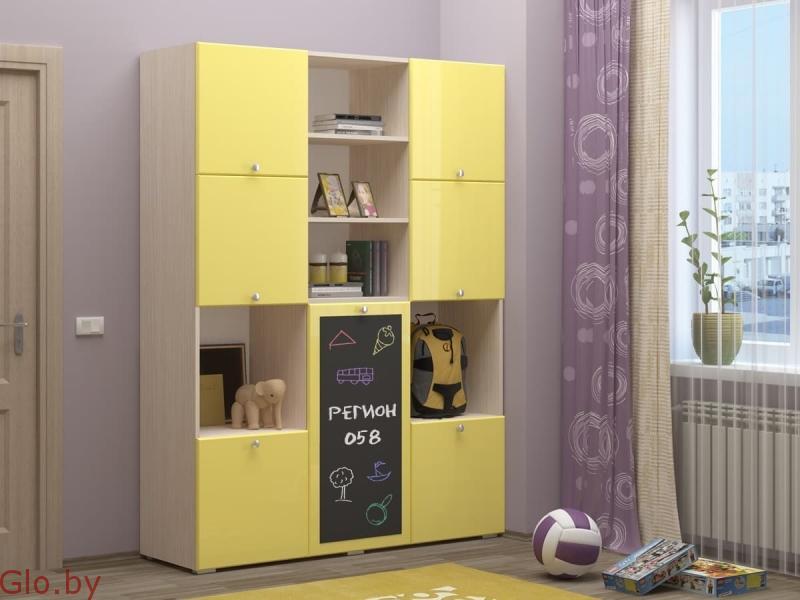 Детский шкаф с доской Юниор-11 (1.5м.)