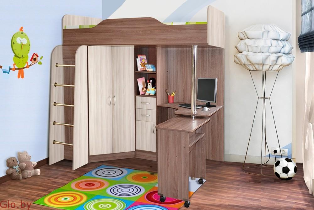 Детская стенка-кровать Бриз ЛДСП