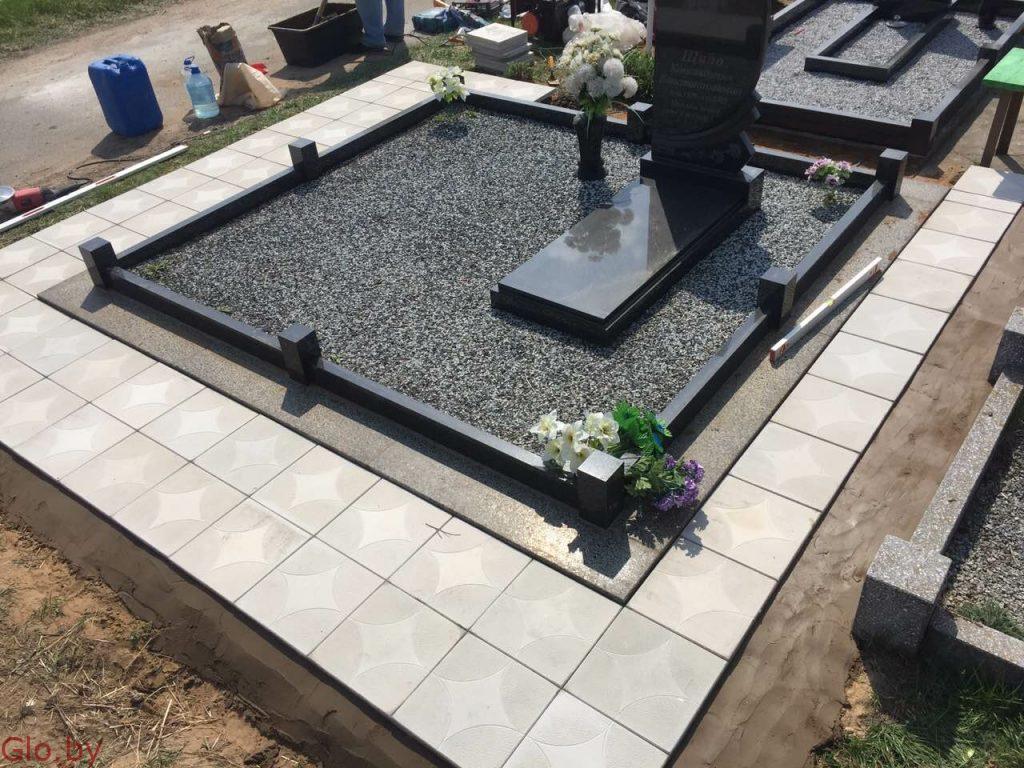 Благоустройство могил-Памятник-Ограда под ключ.кладбище Михановичи