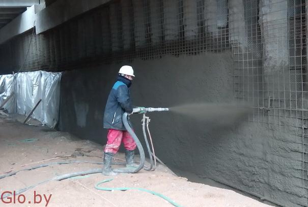 Усиление конструкций методом торкретирования