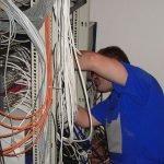 Монтаж антенных телефонных, сетевых кабелей. Орша