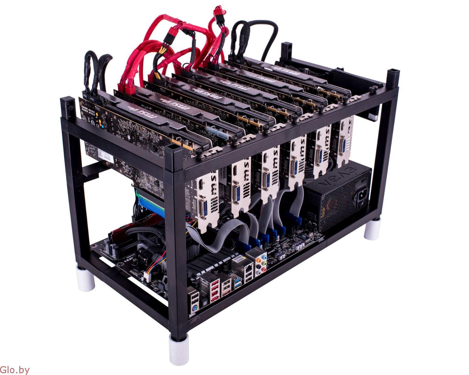 Новая майнинг-ферма на 6 картах RADEON RX570/8GB