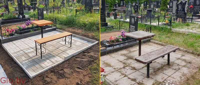 Благоустройство захоронений, установка памятника Заславль и рн