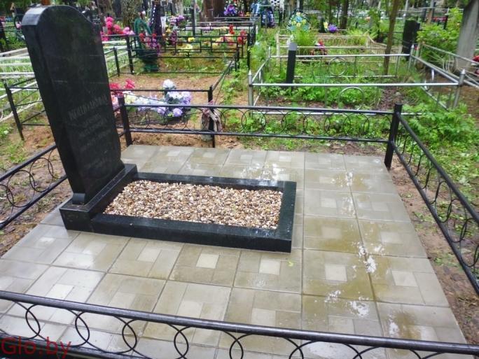 Благоустройство захоронений, установка памятника Любань и рн