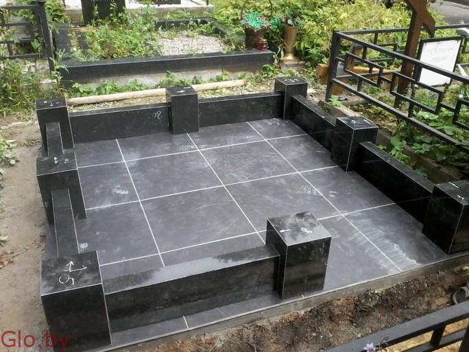 Благоустройство могил, памятник под ключ. Северное кладбище