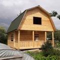 Отличный сруб Дома для дачи из бруса 6 на 8 с установкой.