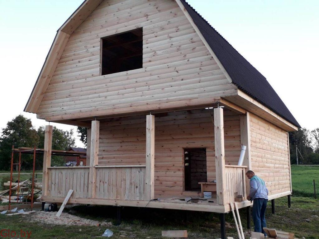 Дом сруб 6х6м Установка без нервотрепок шума пыли