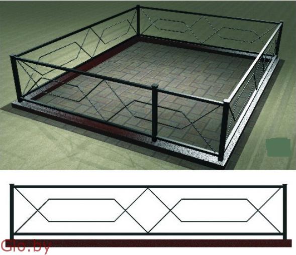 Ограда металлическая ритуальная