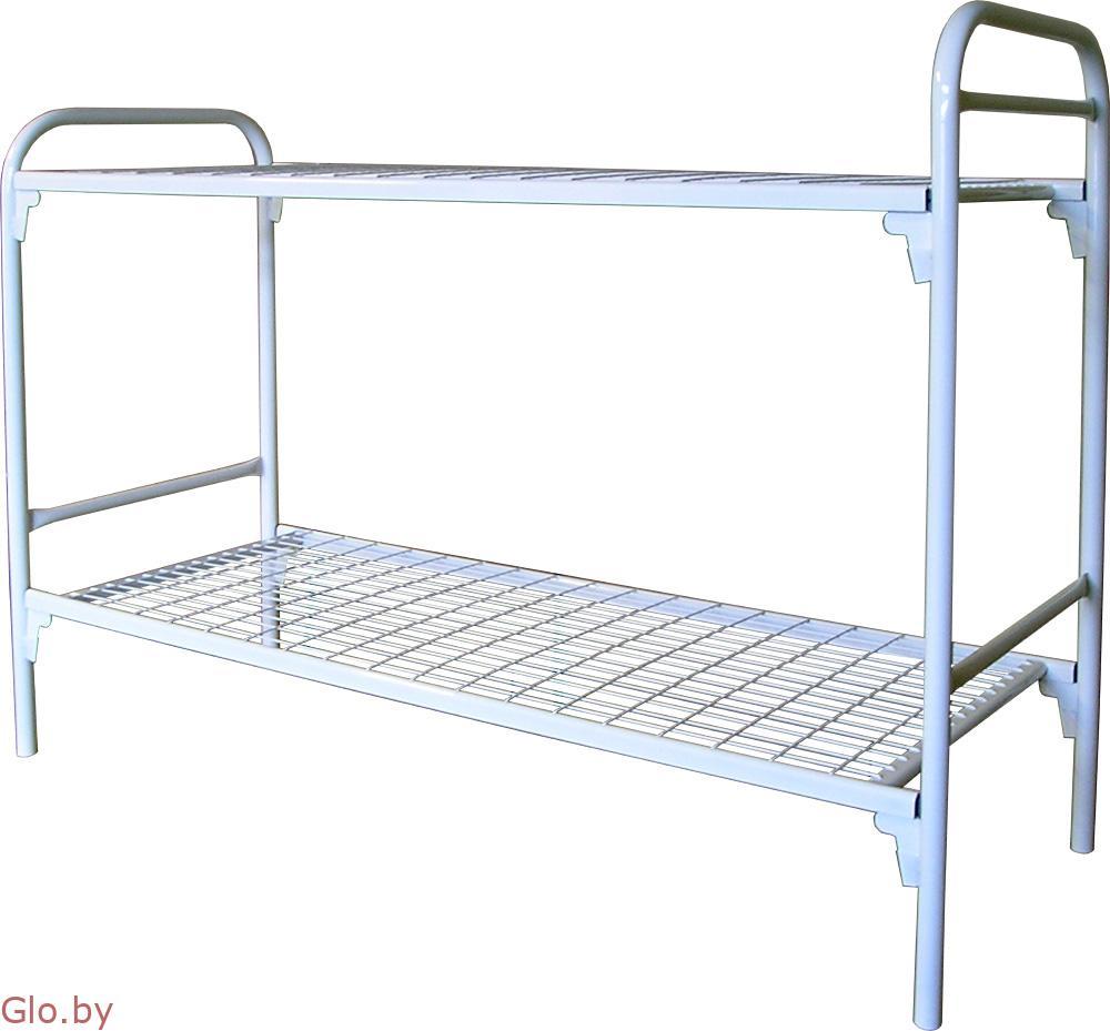 Одноярусные кровати металлические престиж