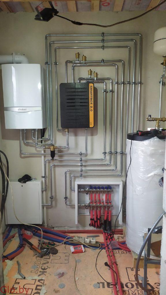 Монтаж систем отопления в частных домах