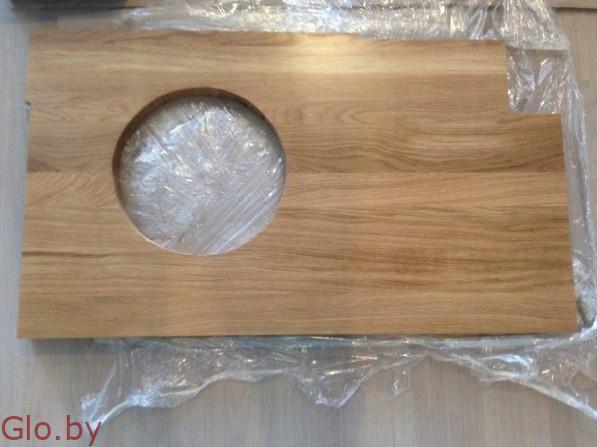Cтолешницы для ванных комнат из массива дуба и ясеня