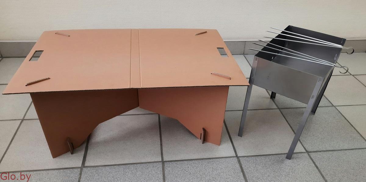 Одноразовый раскладной стол Тэйпл! Стол для отдыха, рыбалки, шашлыка