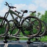 Велобагажник на крышу для 3 велосипедов