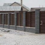 Забор жалюзи