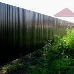 Металлический забор цвет: RAL (6005), (8017), (3005), (5005). Еврозабор