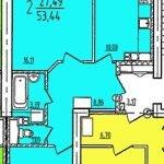 2-х комнатная квартира дешево в новостройке Витебск, ул. Билево