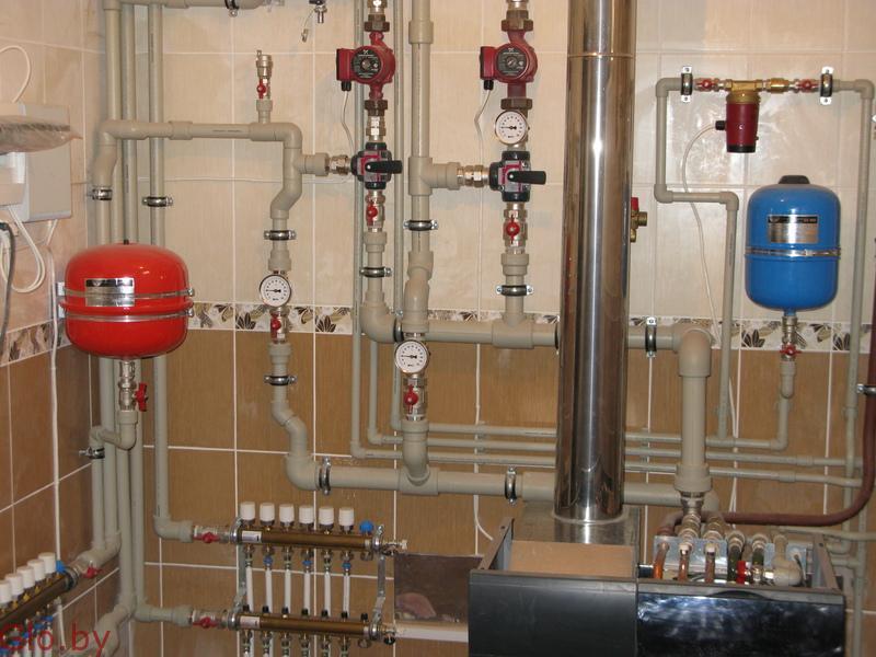 Монтаж систем отопления выезд: Копыль и район