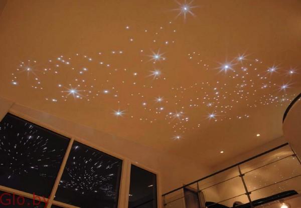 Натяжной потолок Звездное небо монтаж в Витебске и районе