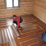 Монтаж деревянных полов с утеплением в Витебске
