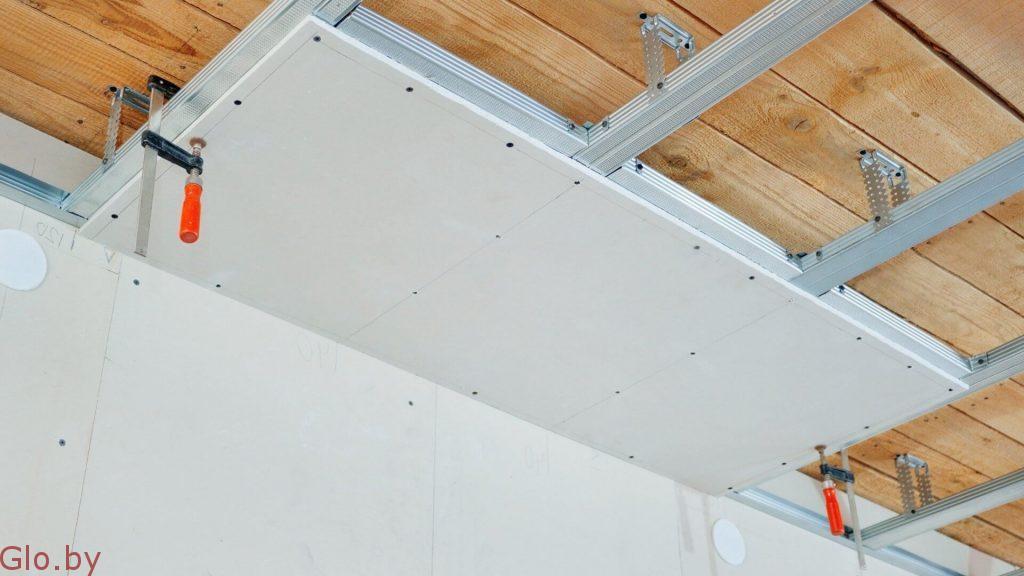 Облицовка стен, монтаж потолка и перегородок из гипсокартона