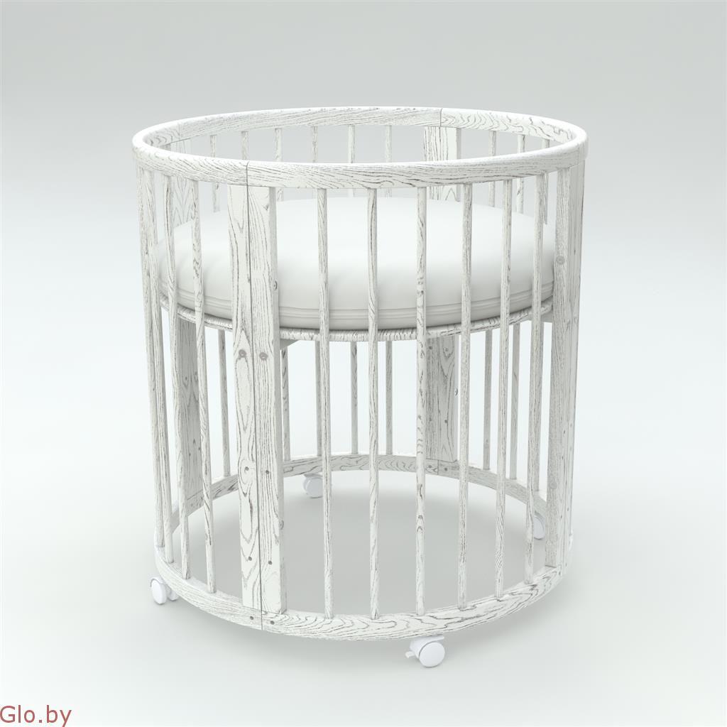 Кроватка-трансформер 7 в 1 из массива ольхи