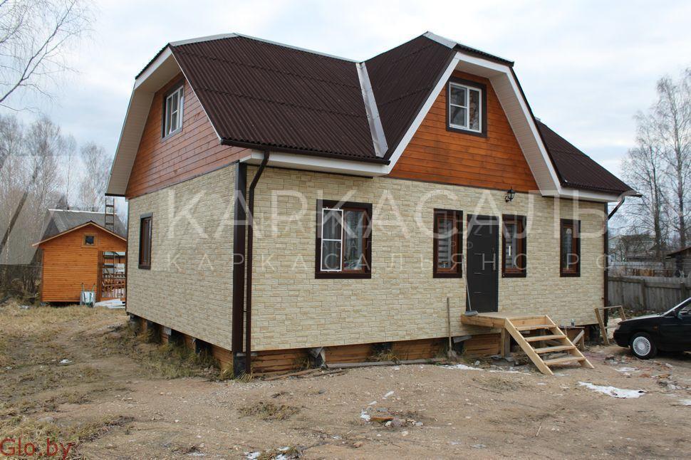 Каркасный дом 8х10 по проекту Двина под ключ