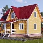 Каркасный Дом ключ 6х8 м по проекту Алаярви
