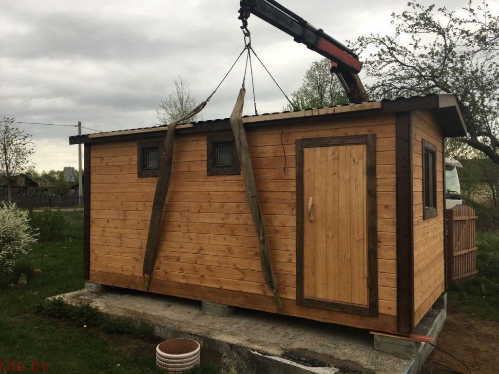 Баня Мобильная за 1 день под ключ установка в Быхове