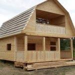 Дом из профилированного бруса проект Оболь 6х6 м