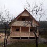 Дом проект Зельвянка 4х6 м из бруса