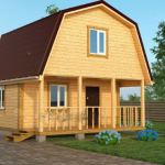 Садовый Дом из бруса Лайк 6х6,с террасой 12 м2 с установкой
