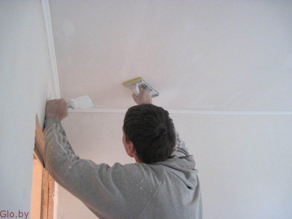 Шпаклевание стен, потолков и откосов, малярные работы.