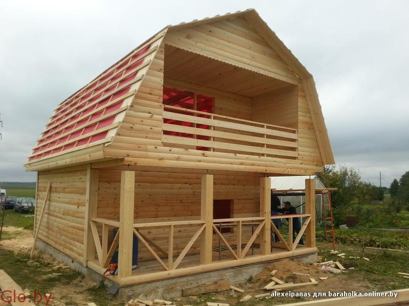 Дачный недорогой Дом из бруса с доставкой,установкой по Беларуси