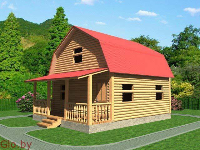Дачный недорогой Дом из бруса с доставкой,установкой