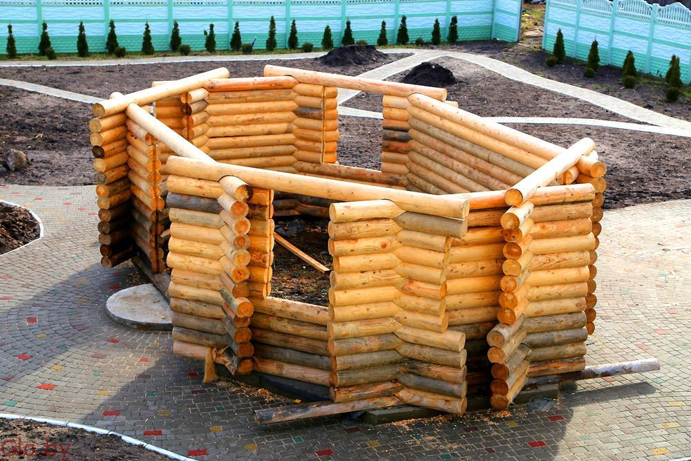 СРУБ БЕСЕДКИ НОВЫЙ, можно для бани или дачи 8х4.5х2.5м