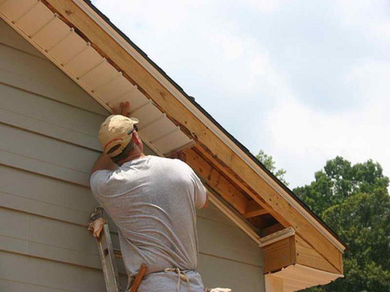 Как сделать подбой крыши своими руками вагонкой
