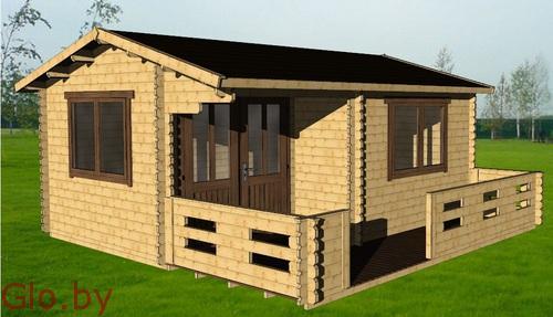 Дачный дом 5*4 под ключ, цена с доставкой и сборкой 5875 бел руб за дом.